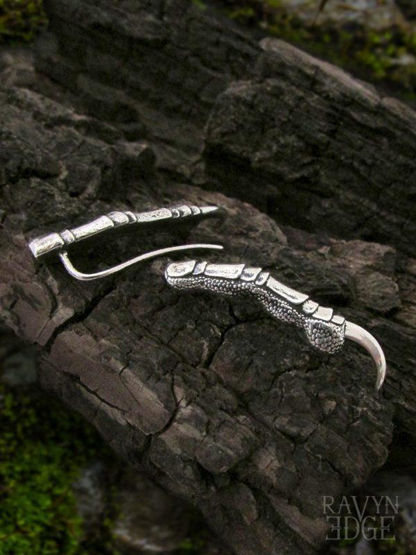 Unique dragon claw ear climbers