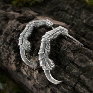 Raven Claw Half Hoop Earrings