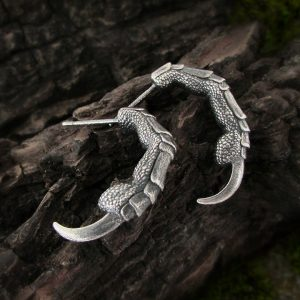 Raven Claw Hoop Earrings