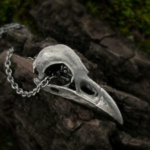 Medium Raven Skull Necklace