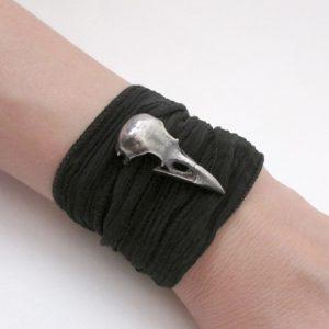 Medium Raven Skull Bracelet