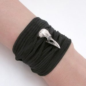 Raven Skull Couples Matching Bracelet Set