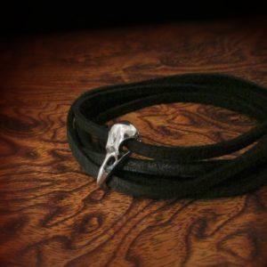 Tiny Raven Skull Wrap Bracelet