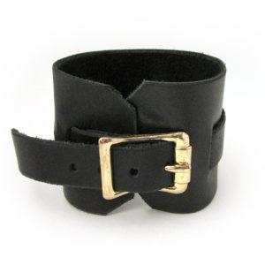 Raven Skull Leather Wrist Cuff