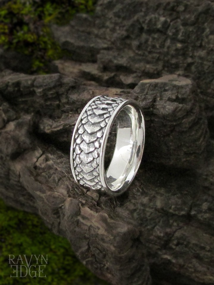 Dragon scale ring nontraditional engagement rings