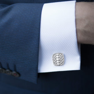 Dragon Scale Square Cufflinks