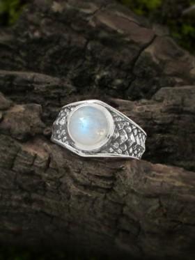 Draco Dragon Scale Moonstone Ring